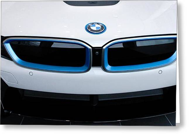 Greeting Card featuring the photograph Bmw E Drive I8 by Aaron Berg