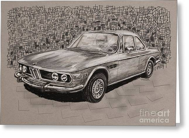 Bmw E9 Greeting Card by Robert Yaeger