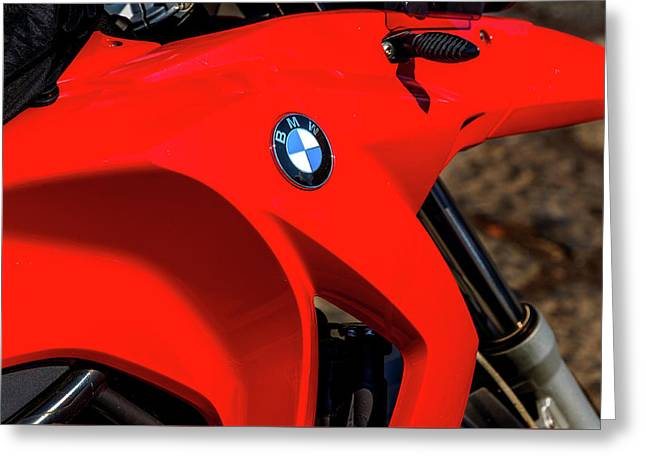 Bmw Gas Tank Greeting Card by Xavier Cardell