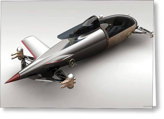 Bmw Hydrogen Salt Racer 3 Wide Greeting Card by F S