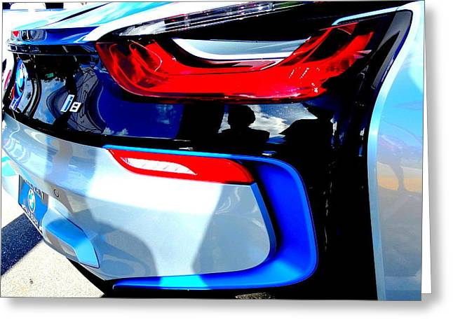 Bmw I8 Greeting Card by Louis Meyer