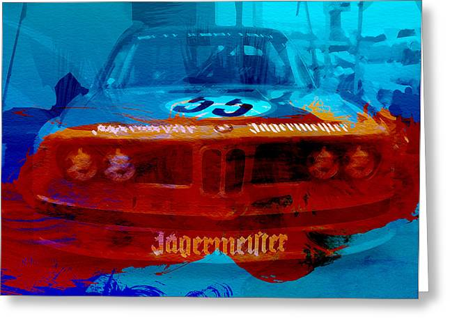 Engine Digital Greeting Cards - Bmw Jagermeister Greeting Card by Naxart Studio