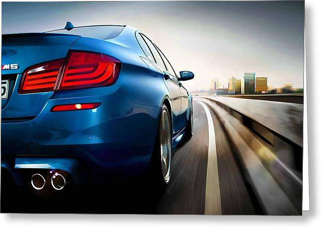 BMW Greeting Card by Lanjee Chee