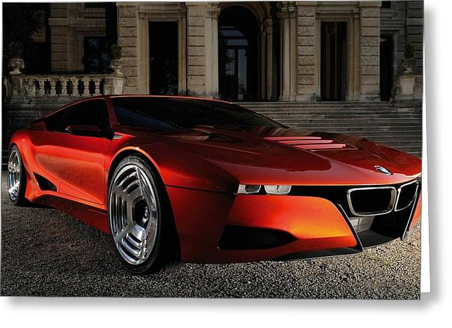 Bmw M1 Homage Concept 2  Greeting Card