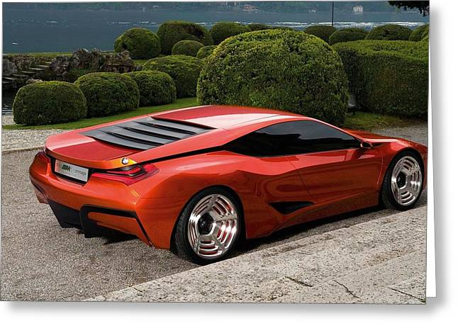 Bmw M1 Homage Concept 4 Wide Greeting Card