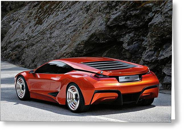 Bmw M1 Homage Concept 5 Wide Greeting Card