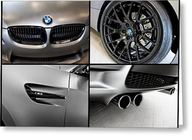 Greeting Card featuring the photograph Bmw M3 Collage by Aaron Berg