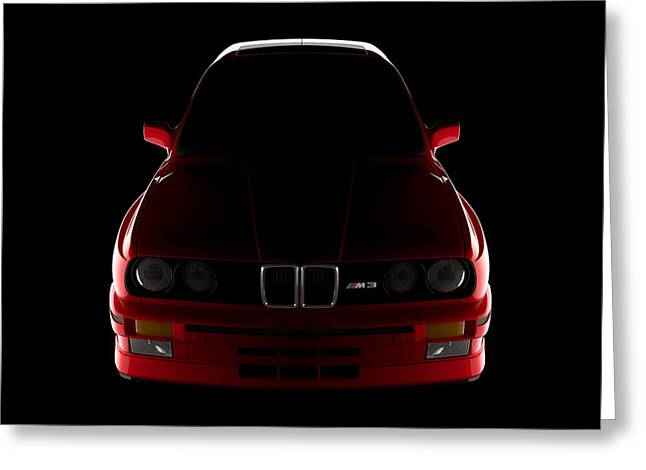 Bmw M3 E30 - Front View Greeting Card