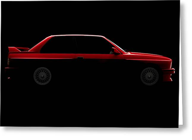 Bmw M3 E30 - Side View Greeting Card