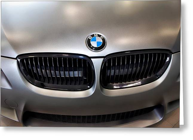 Greeting Card featuring the photograph Bmw M3 Hood by Aaron Berg