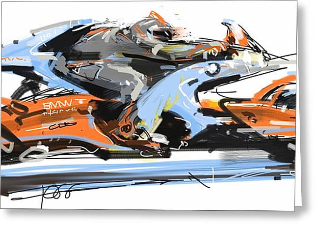 Bmw Racer 2 Greeting Card by Peter Fogg