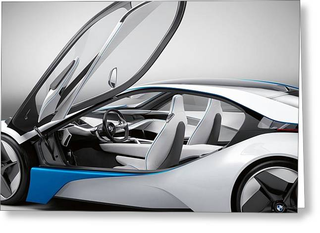 Bmw Vision Efficient Dynamics Concept 2 Wide Greeting Card by F S