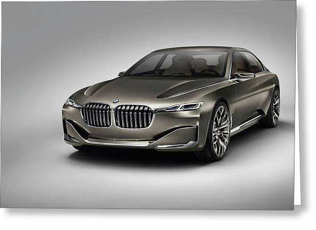 Bmw Vision Future Luxury 2014 Wide Greeting Card by F S