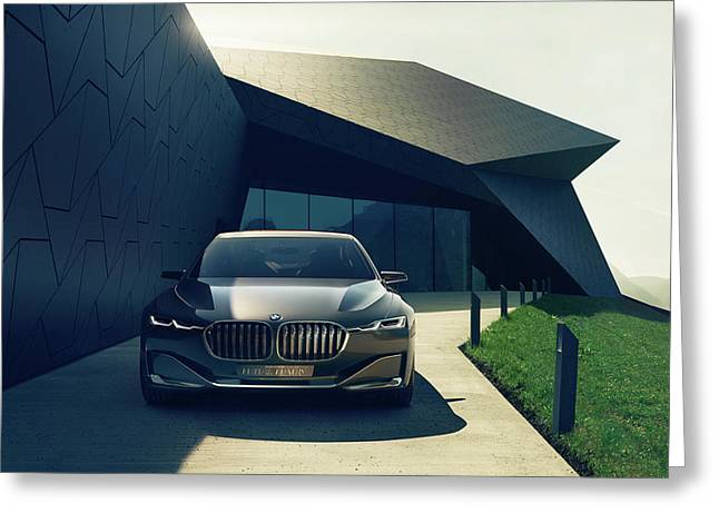 Bmw Vision Future Luxury Concept Wide Greeting Card by F S