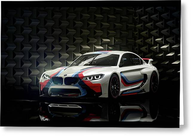 Bmw Vision Gran Turismo 2014 Wide Greeting Card by F S