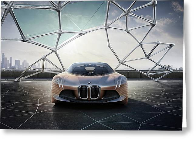 Bmw Vision Next 100 Future Car  Wide Greeting Card by F S