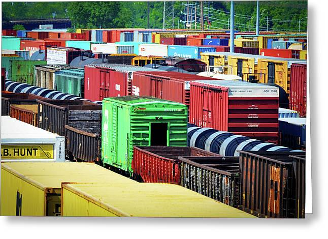 Bnsf Lindenwood Yard Greeting Card