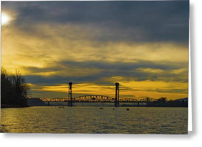 Bnsf Railroad Bridge 5.1 Greeting Card