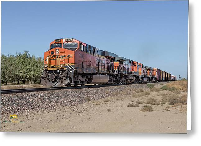 Greeting Card featuring the photograph Bnsf7890 by Jim Thompson