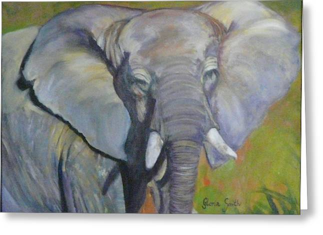 Bo Bo The Elephant Greeting Card