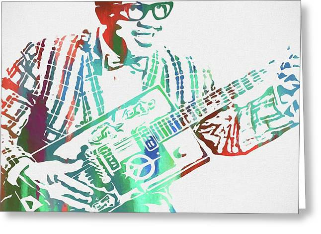 Bo Diddley Watercolor Greeting Card by Dan Sproul