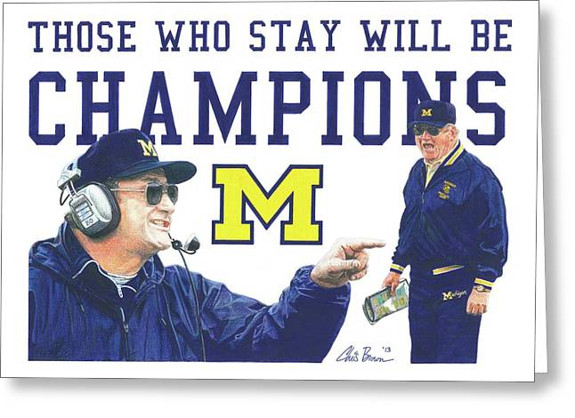 Bo Schembechler Greeting Card