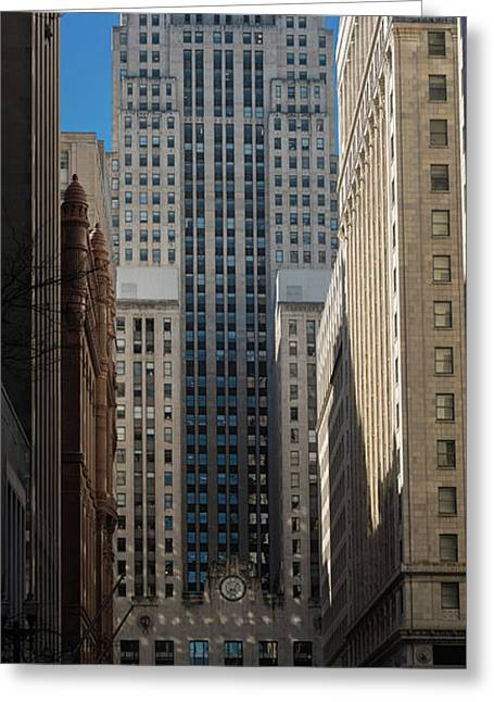 Board Of Trade Chicago Morn Greeting Card by Steve Gadomski