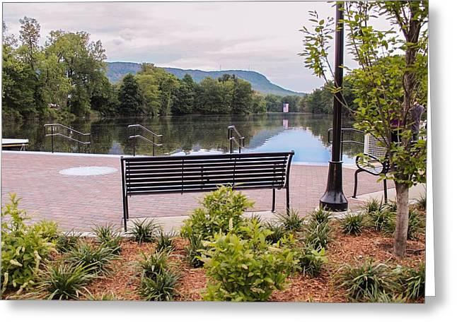 Greeting Card featuring the photograph Boardwalk At Nashawannuck Pond by Sven Kielhorn