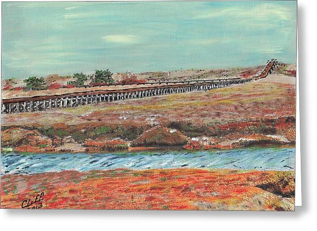 Boardwalk At Sandwich Ma Greeting Card