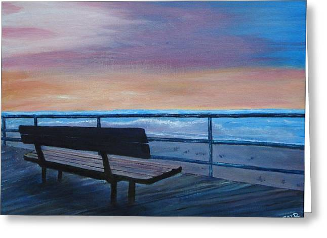 Boardwalk At Sunrise Greeting Card