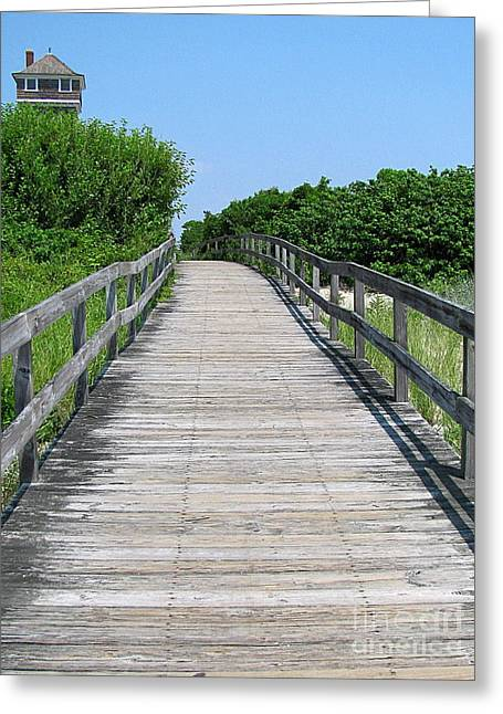 Boardwalk Greeting Card by Colleen Kammerer