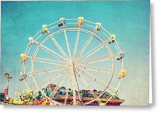 Boardwalk Ferris Wheel Greeting Card by Melanie Alexandra Price