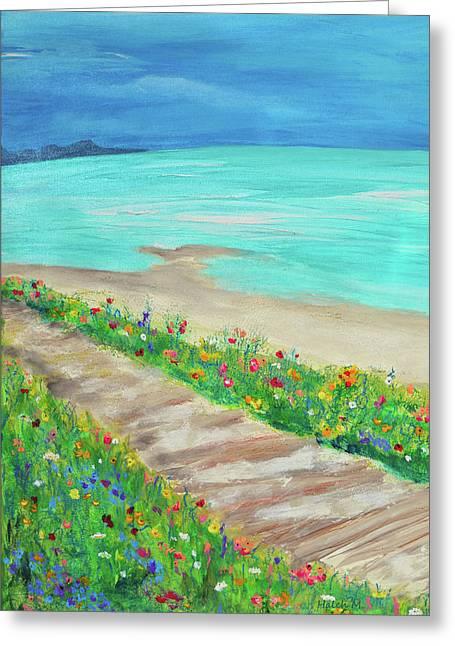 Boardwalk In Carmel Greeting Card
