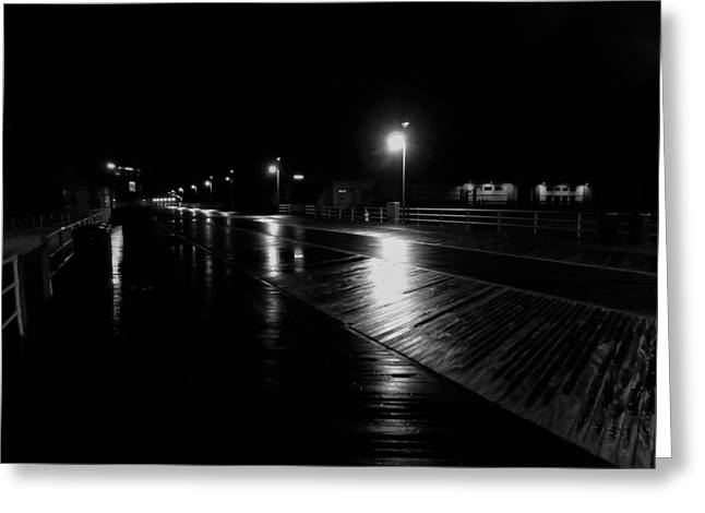 Boardwalk In The Still Of The Night Greeting Card