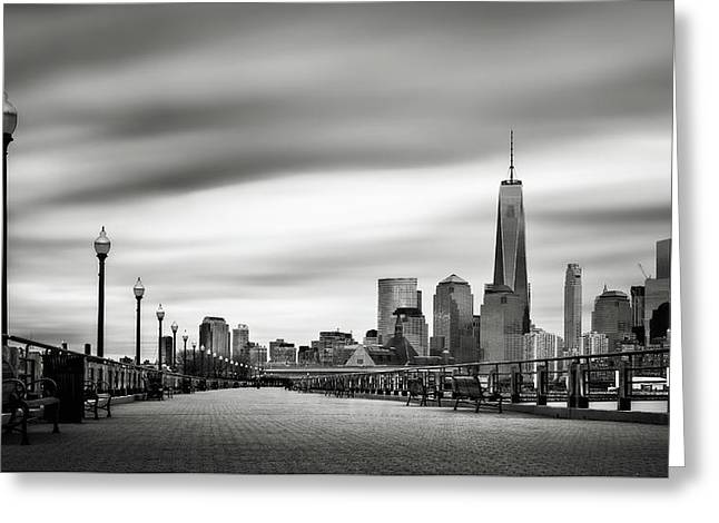 Boardwalk Into The City Greeting Card by Eduard Moldoveanu