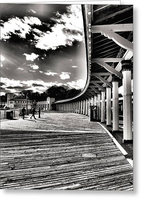 Boardwalk Greeting Card by Laura DAddona
