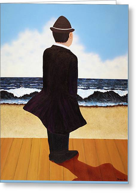 Boardwalk Man Greeting Card