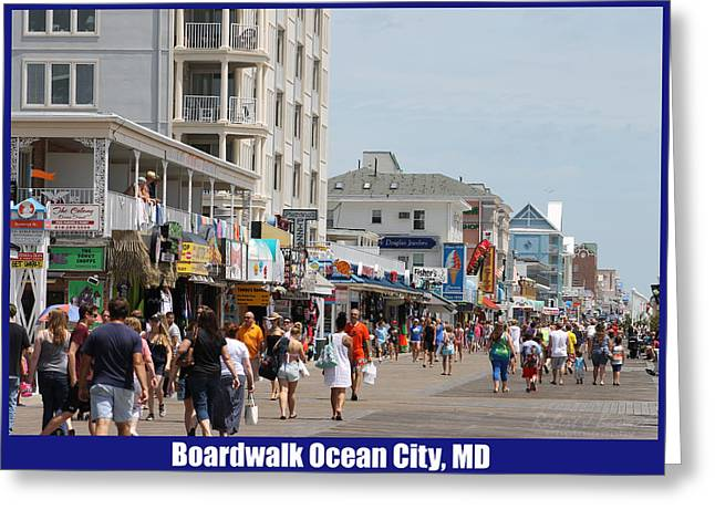 Boardwalk Ocean City Md Greeting Card