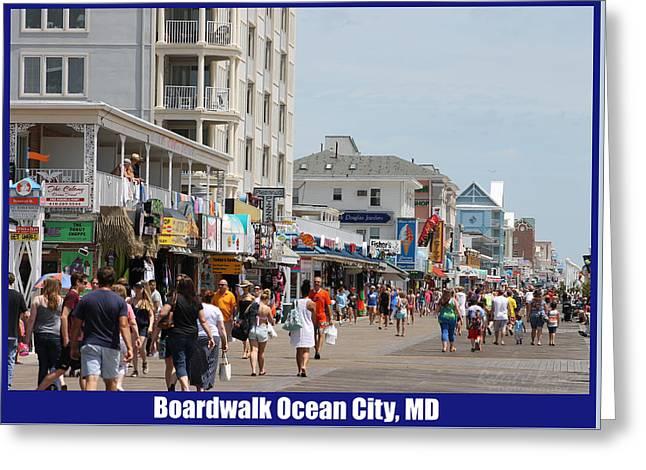 Boardwalk Ocean City Md Greeting Card