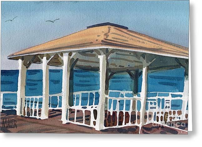 Boardwalk Pavillion Greeting Card by Donald Maier