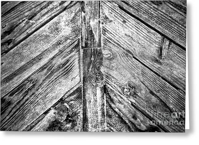 Boardwalk Plank Infrared Greeting Card by John Rizzuto