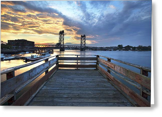 Boardwalk Sunset Greeting Card by Eric Gendron