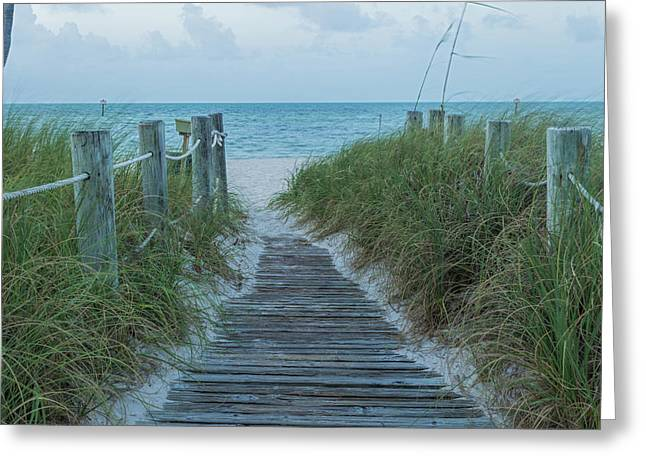 Greeting Card featuring the photograph Boardwalk To The Beach by Kim Hojnacki