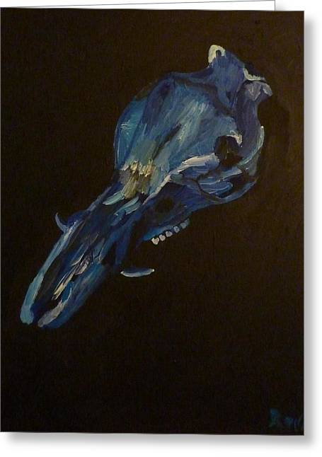 Greeting Card featuring the painting Boar's Skull No. 2 by Joshua Redman