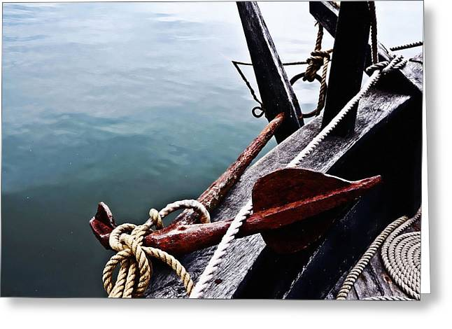 Boat Anchor Greeting Card