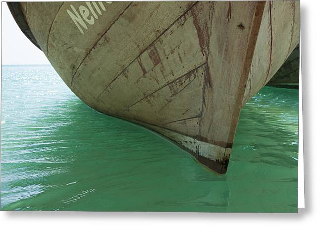 Leisure Time Greeting Cards - Boat Anchored in Water Greeting Card by Don Mason