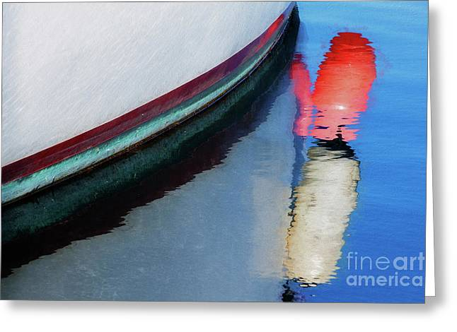 Greeting Card featuring the photograph Boat And Buoy by Brenda Tharp