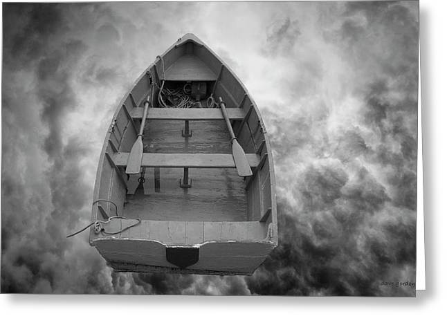 Boat And Clouds Greeting Card