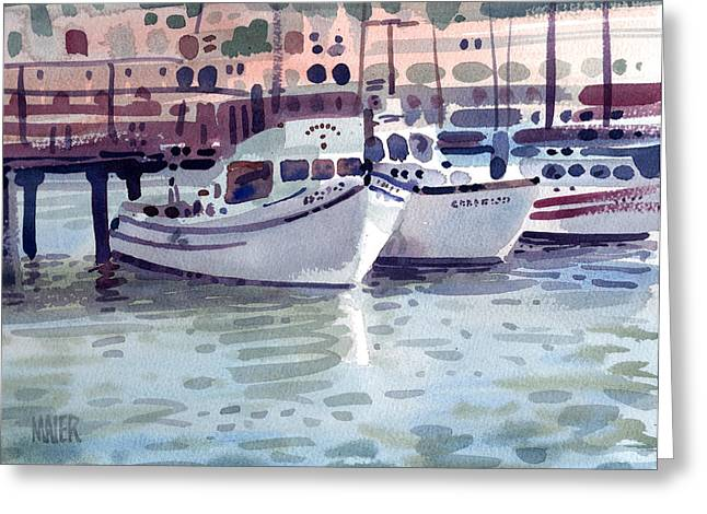 Boat At Fisherman's Wharf Greeting Card