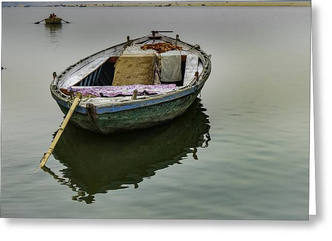 boat at Ganges Greeting Card
